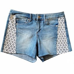 Seven7 Shorts Denim High Rise Lace Size 10